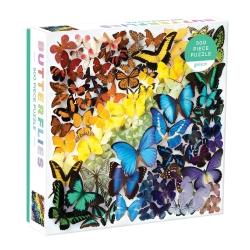 galison – Puslespil rainbow butterflies - 500 brikker fra fenomen