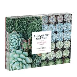 galison Puslespil succulent - 2 sider på fenomen