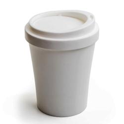 qualy Papirkurv coffee bin i hvid - mini fra fenomen