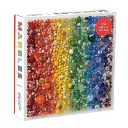 Puslespil - rainbow marbles fra galison fra fenomen