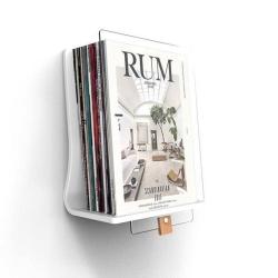 Read magasinholder i hvid