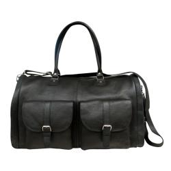 Rejsetaske - sort læder fra tim & simonsen på fenomen
