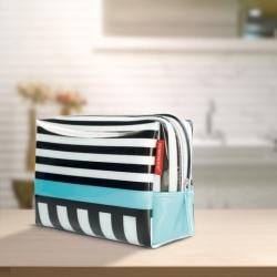 Toilettaske - black stripes fra remember fra fenomen