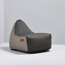 sackit – Retroit canvas sækkestol - mørkbrun/sand på fenomen