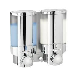 Image of   Aviva sæbe dispenser 2 rum selvklæbende - krom