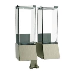 Image of   Linea sæbedispenser til væg - 2 rum