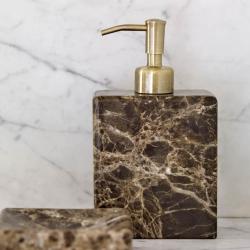 aquanova – Sæbedispenser i brun marmor - aquanova fra fenomen