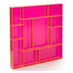 Image of   Sættekasse kvadratisk - pink akryl