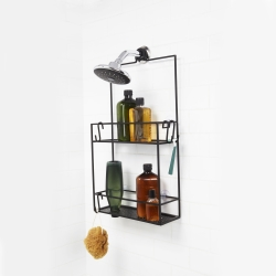 umbra Cubiko shower caddy - sort fra fenomen