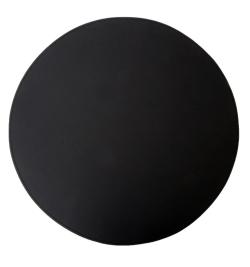 Image of   Læder dækkeserviet rund - sort