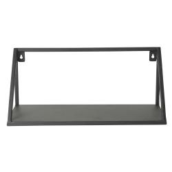 Image of   Væg hylde i sort metal 40 cm