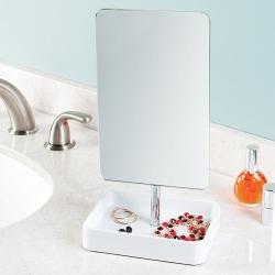 Image of   Firkantet spejl med holder