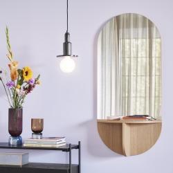 hübsch – Spejl med hylde egetræ - hübsch på fenomen