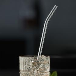 Image of   Lyngby Glas sugerør i klar glas - 6 stk.