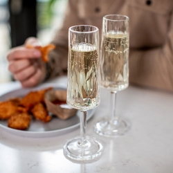 Superglas nr. 5 i plast Koziol champagne - 6 stk