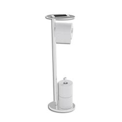 Image of   Toiletrulle holder til gulv med bakke