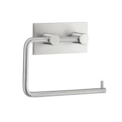 Image of   Toiletrulleholder med elvklæbende bagside - børstet stål