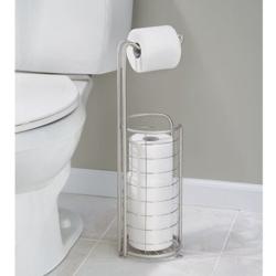 Image of   Toiletrulleholder til gulv - med reserve