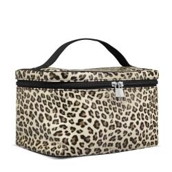 Image of   Toilettaske og pensel taske i leopard