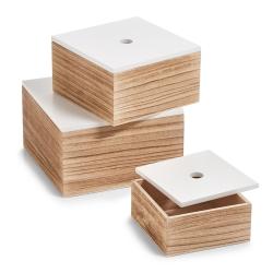 Træ kasser med låg - 3 stk fra zeller på fenomen