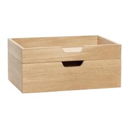 Billede af Opbevaringskasser i træ 2 stk. - Hübsch