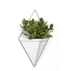 Image of   Trigg blomsterskjuler - hvid og stål