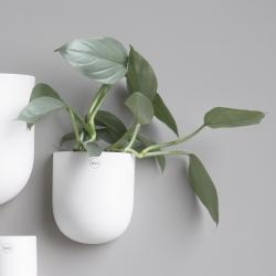 Image of   DBKD væg blomster krukke i hvid - large