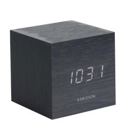 Vækkeur Cube i sort