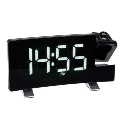 Vækkeur med projektion - USB oplader funktion