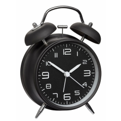 Image of   Sort vækkeur med klokker