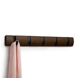 Image of   Flip knagerække - valnød og sort
