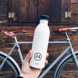 Urban drikkeflaske - ice white fra 24bottles på fenomen