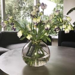 Vase i rosa glas - cozy living fra cozy living på fenomen