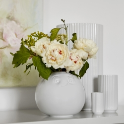 Image of   Rund vase med ansigt - Amused