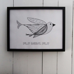 Fly Baby - Fly plakat 30*40 cm