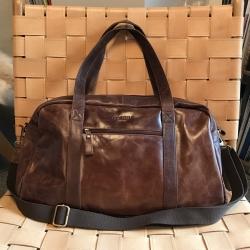 Image of   Læder weekendtaske - mørk brun