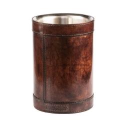 Læder vinkøler winston - mørk brun fra balmuir fra fenomen