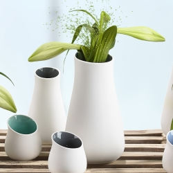 Image of   Stor hvid vase - Zone