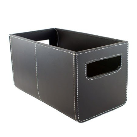 Sort læder kasse