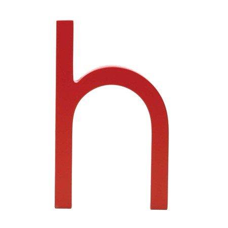 Bogstav h - rød
