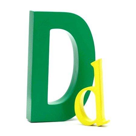 Bogstav D - grøn