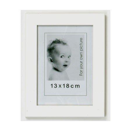 Hvid fotoramme - 13x18 cm