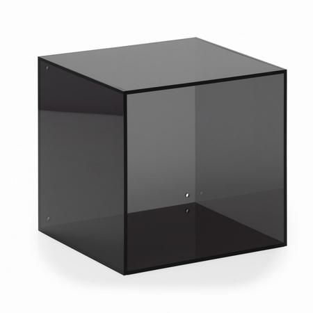 Akryl kasse kvadratisk - smoke