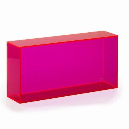 Akryl Box wall box square kasse i pink akryl neon living - akryl box