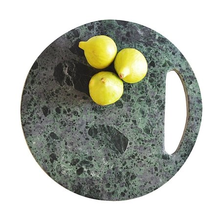 Skærebræt - grøn marmor