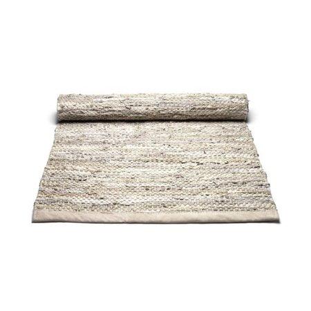 Læder tæppe - beige 60*90