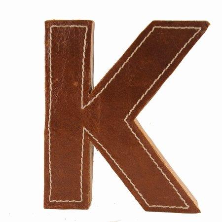 Læder bogstav - K