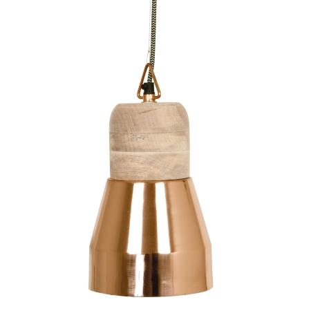 Pendant Bold Wood lampe - kobber medium