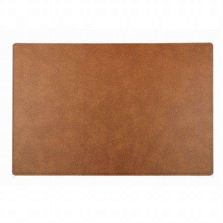 Skriveunderlag i brun læder - LINDDNA