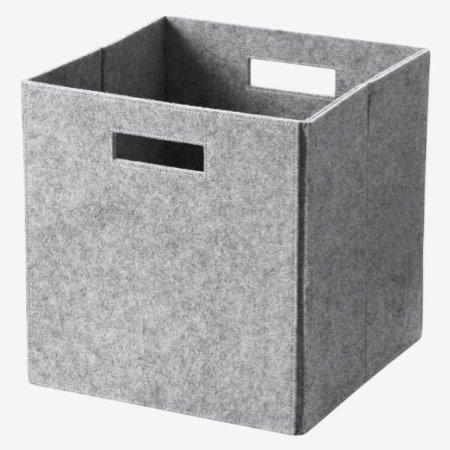 Hyldebox - lysgrå filt